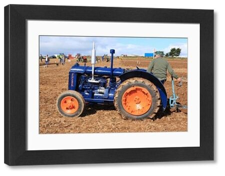 A Fordson tractor at a Ploughing Match at Pelynt near Looe in Cornwall on a autumn day