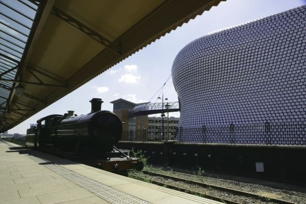 Moor Street Station next to Selfidges Dept Store in the new Bull Ring in the City Centre Birmingham