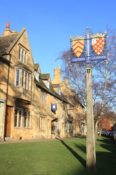Chipping Campden. The Town sign at Chipping Campden