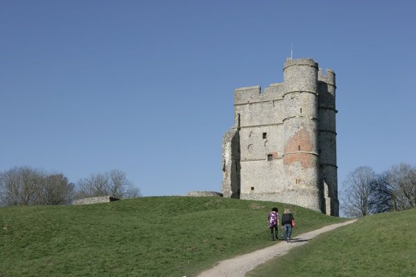 The Gatehouse of the 14th-century Donnington Castle near Newbury Berkshire, has associations with the civil war and a battle with a siege