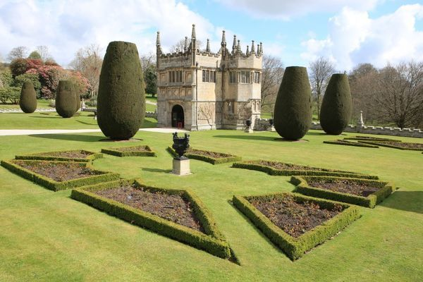 The gorgeous garden of Lanhydrock a large country house in Cornwall near Bodmin