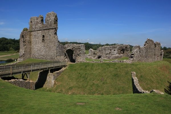 Ogmore Castle. The Ruins of Ogmore Castle in South Wales