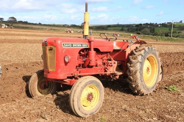 Ploughing Match. Vintage David Brown 880 tractor at a Ploughing Match at