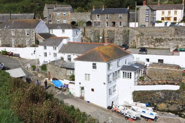 Portloe. The Tugger Hotel in Portloe Cornwall