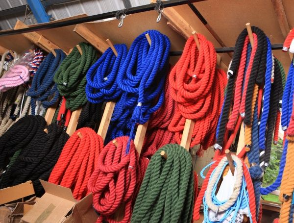 Ropemaking. Rope at W R Outhwaites in Hawes North Yorkshire