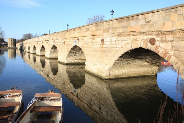 The river and bridge at Stratford Upon Avon Warwickshire on a early winters afternoon