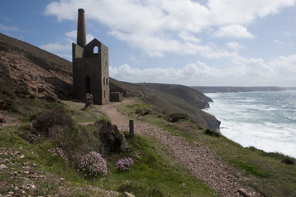 Ruins of Wheal Coates Tin Mine engine house, near St Agnes, Cornwall, Used in the filming of Poldark